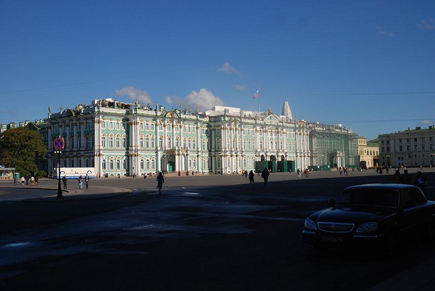 Plein voor de Hermitage Sint Petersburg