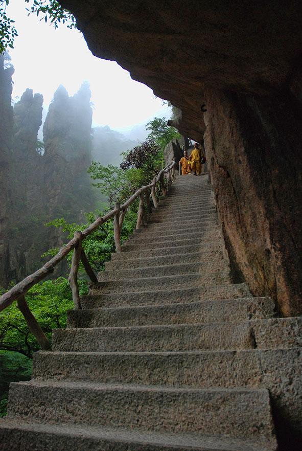 Huangshan Gele bergen monniken