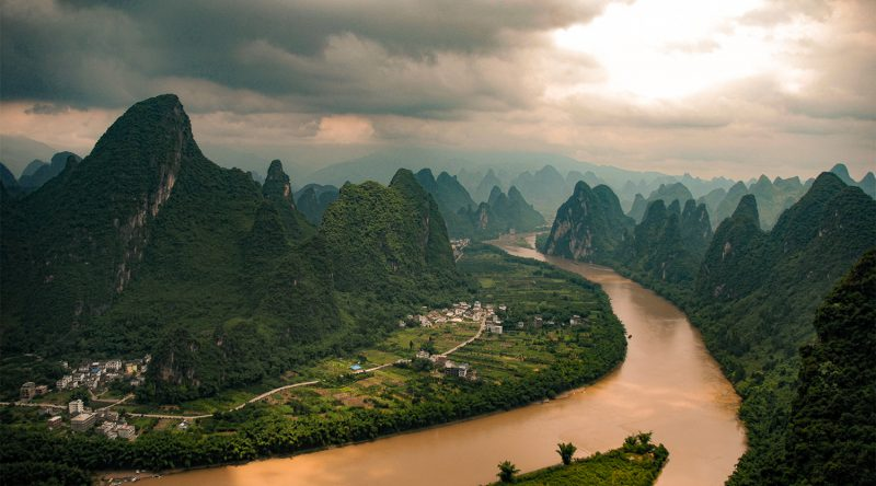 Auto naar Yangshuo Xingping Guilin China