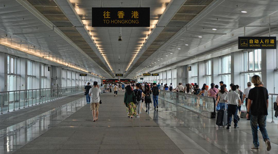 Grensovergang China Hong Kong