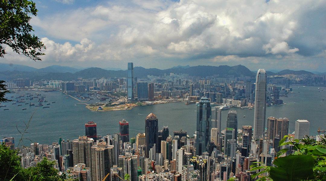 Hong Kong uitzicht Victoria Peak