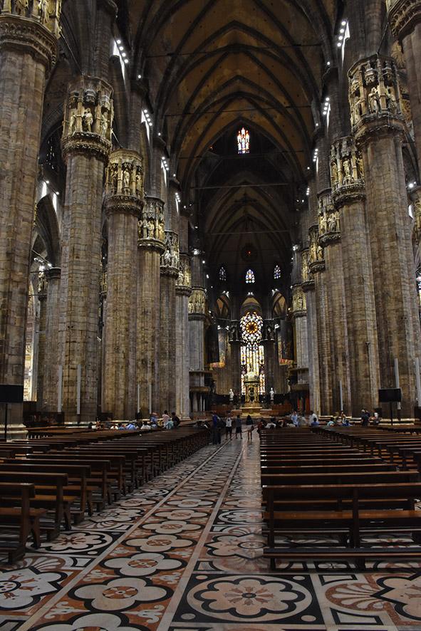 Milaan Duomo binnenkant