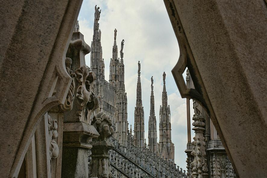 Milaan Duomo bovenop