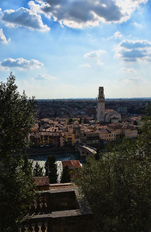 Verona Italië uitzicht vanaf Castel San Pietro