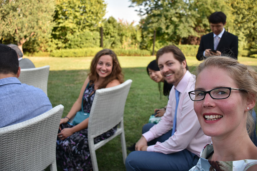 Bruiloft Italië Bedizzole selfie