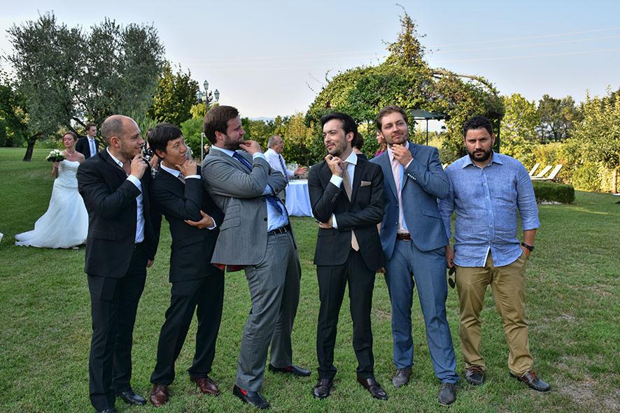 Bruiloft Italië Bedizzole de mannen