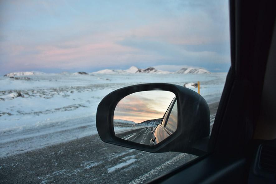 Thingvellir National Park IJsland vanuit de huurauto
