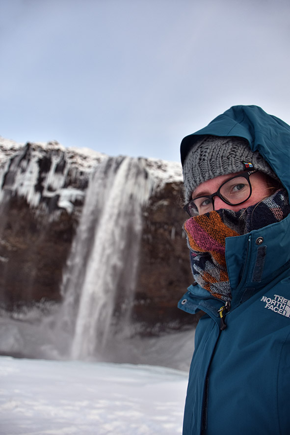 Selfie bij de Seljalandsfoss IJsland