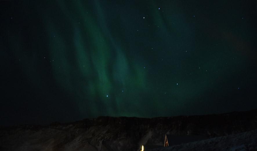 Noorderlicht Aurora Borealis Vík IJsland