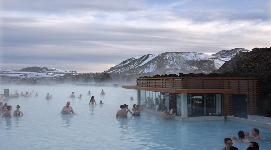 Blue Lagoon IJsland in de winter