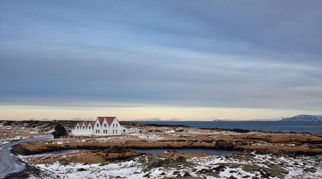 Landschap in IJsland bij Reykjavik