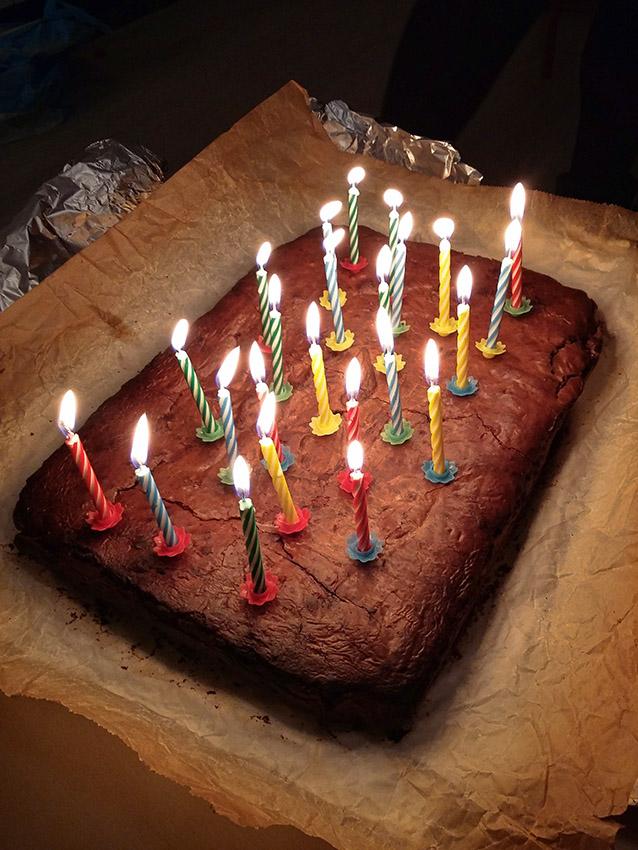 Griekse verjaardag cake