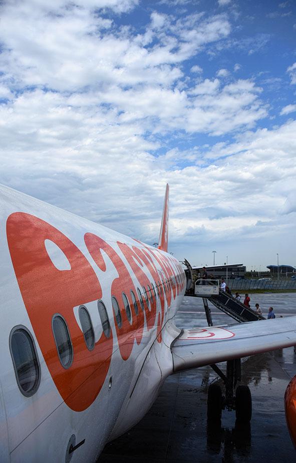 Vlucht van Schiphol naar Glasgow met Easyjet