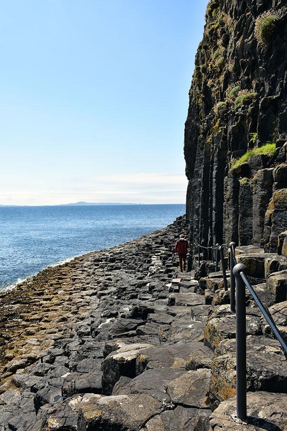 Staffa eiland basalt kolummen