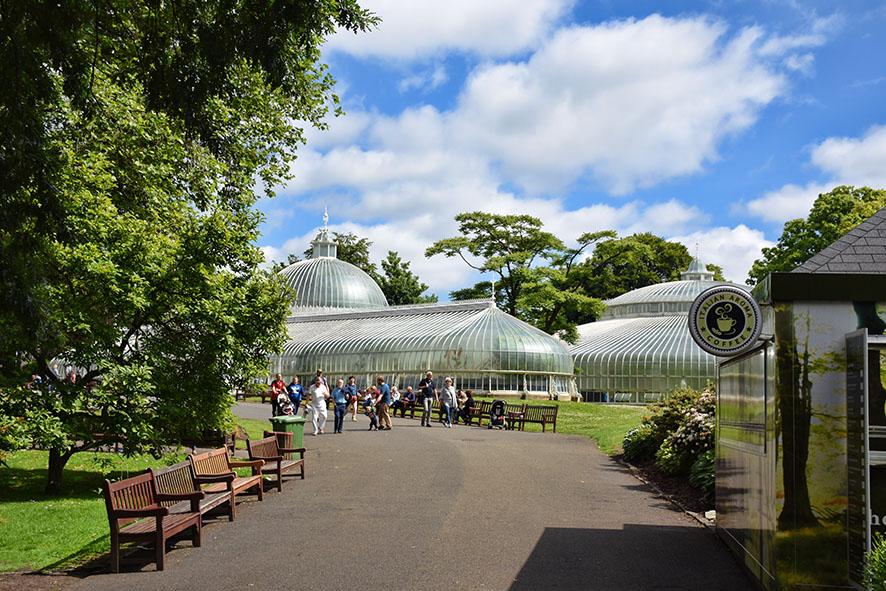 Ingang van de botanische tuinen Glasgow