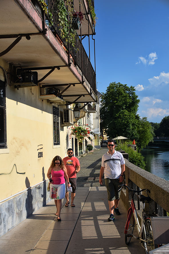 Lopen door Ljubljana