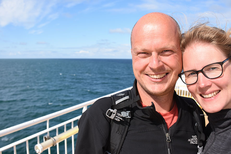 Op de ferry Van Noorwegen naar Denemarken