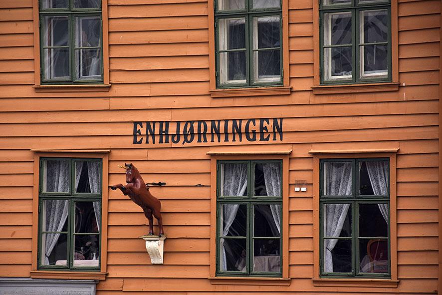Huizen in Bergen Noorwegen