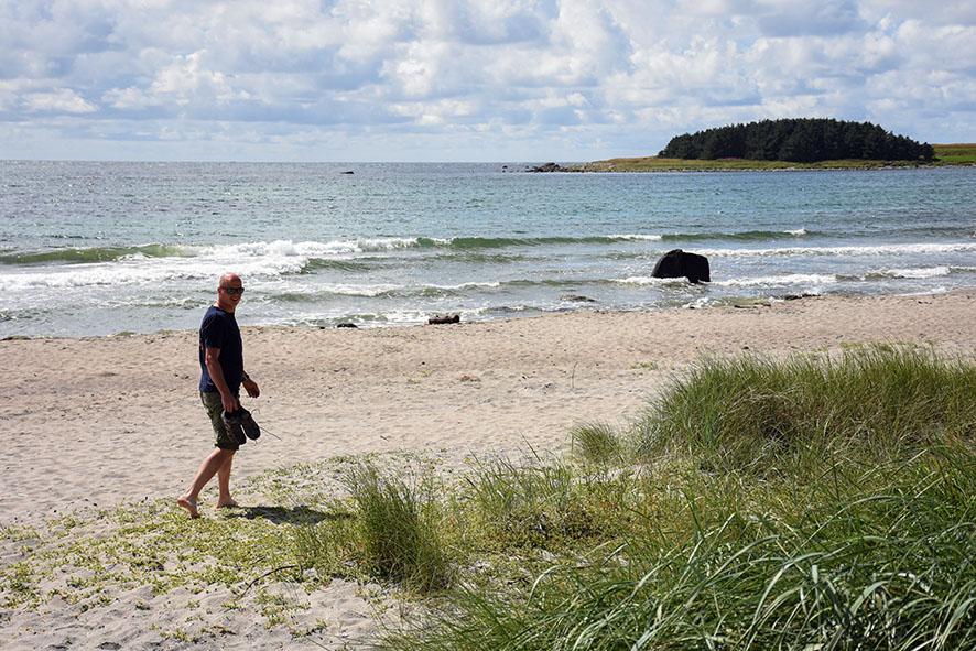 Strand bij Lista in zuidelijk Noorwegen
