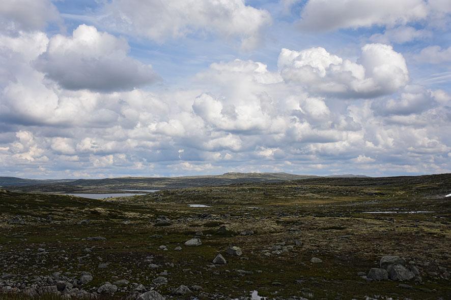 Landschap Hardangervidda Noorwegen