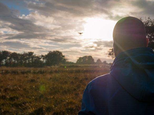 Drone vliegen in Dwingelderveld