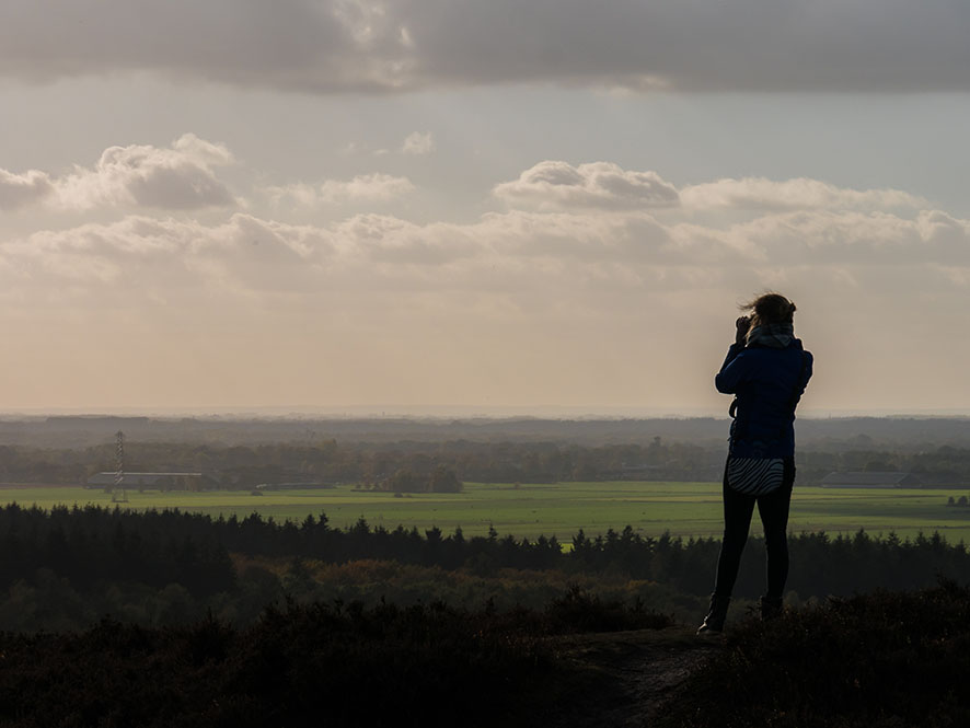 Fotos maken vanaf de Lemelerberg Nederland
