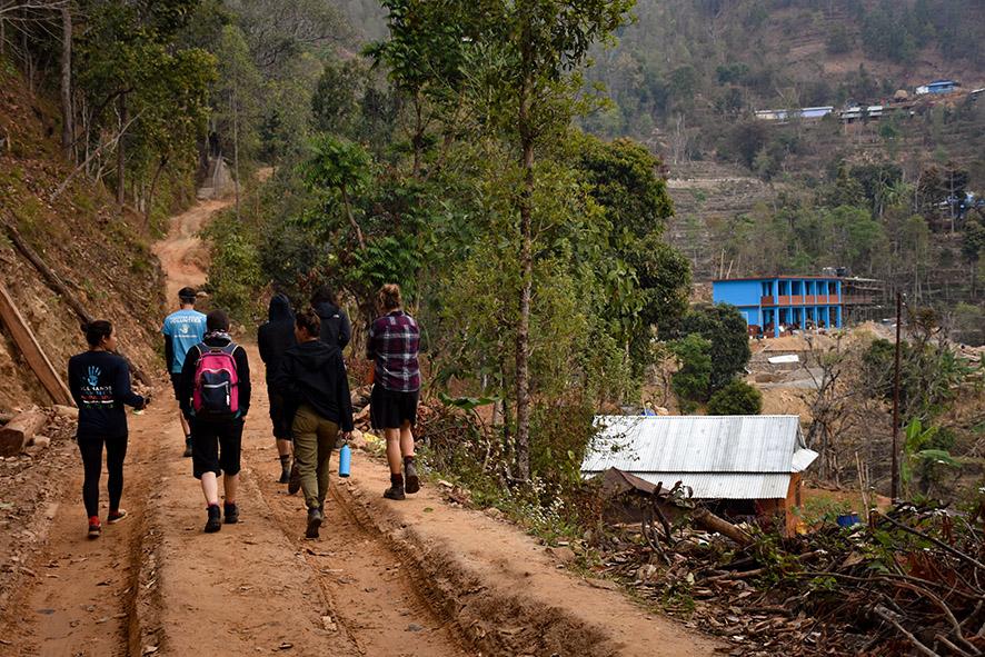 All Hands Volunteers Nepal school bouwen vrijwilligerswerk