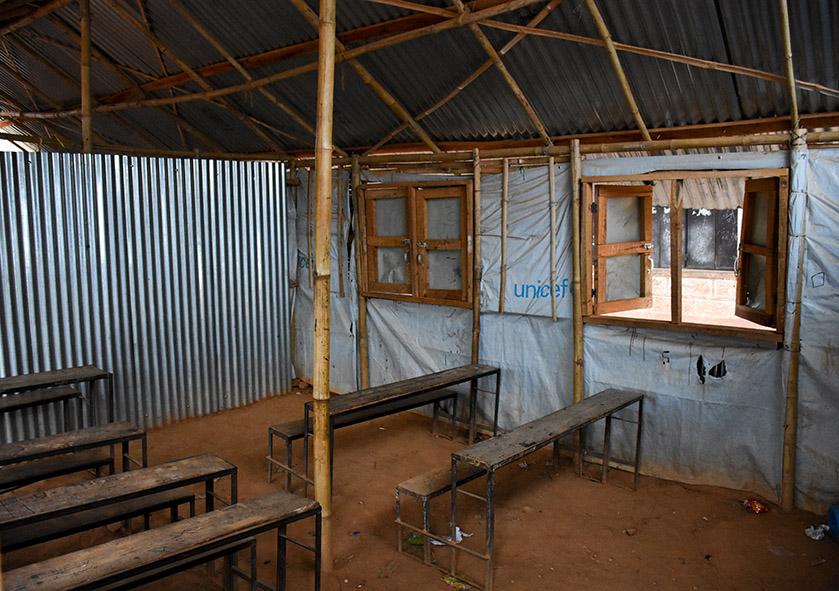 Oude school lokalen in Nepal