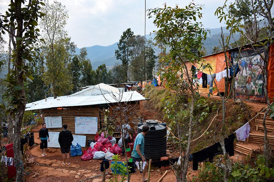 All Hands Volunteers Nepal base camp