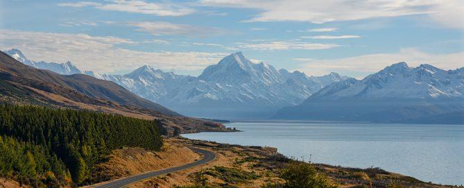 Uitzicht op Mount Cook, Nieuw-Zeeland vanaf Peter's lookout
